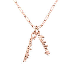 Chain Link Name Necklace in 18K Rose Gold Plating product photo