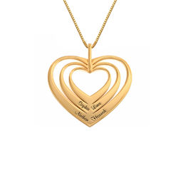Family Hearts necklace in 18ct Gold Vermeil - Mini design product photo