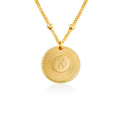 Rayos Initial Necklace in Vermeil product photo