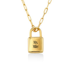 Allie Padlock Link Necklace in Gold Vermeil product photo