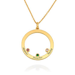 The Family Circle Necklace with Birthstones in Gold Vermeil product photo