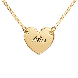 Engraved Heart Necklace in 18ct Gold Plating product photo