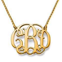 18ct Celebrity Style Monogram Necklace product photo