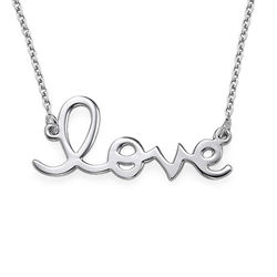 Sterling Silver Love Necklace product photo