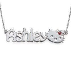 Kitten Nameplate Necklace for Girls product photo