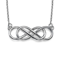 Sterling Silver Double Infinity Necklace product photo