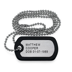 Engraved Dog Tag Necklace product photo
