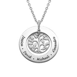 Personalised Silver Family Tree Necklace product photo