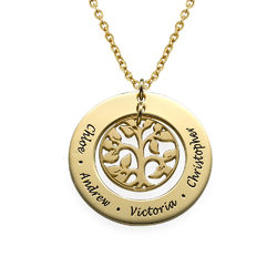 Family Tree Necklace in 18ct Gold Plating product photo