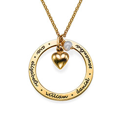 Personalised Mothers Jewellery in Gold Plating product photo