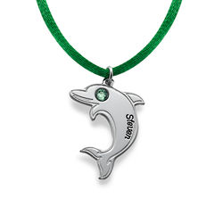 Sterling Silver Dolphin Necklace product photo