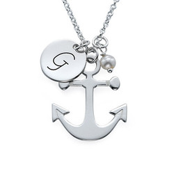 Anchor Jewellery with Initial Charm product photo