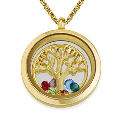 Family Tree Floating Locket with Gold Plating product photo