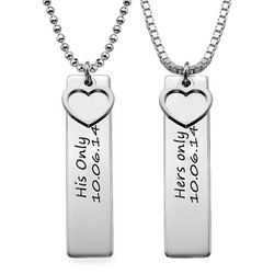 Personalised Bar Necklace for Couples product photo