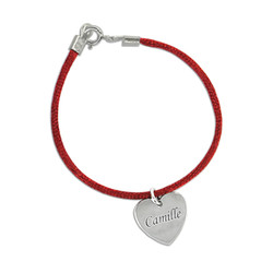 Custom Engraved Mother Bracelet With Silver Charm product photo