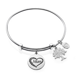 Mum Charm Bangle Bracelet product photo