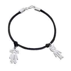 Mother's Sterling Silver Engraved Girl Bracelet0 product photo
