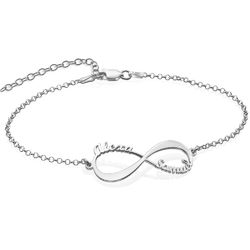 Infinity Bracelet with Names in Sterling Silver product photo