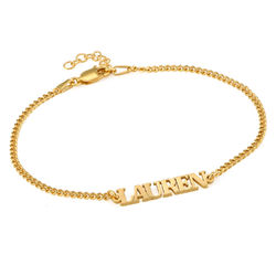 Name Bracelet with Capital Letters in 18ct Gold Vermeil product photo