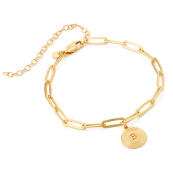 Odeion Initial Link Chain Bracelet / Anklet in Vermeil product photo