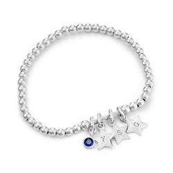 Having a Ball Bracelet with Custom Charms in Sterling Silver product photo