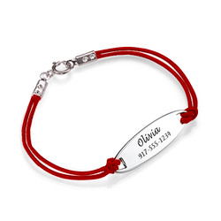 Kids ID Leather Cord Bracelet product photo