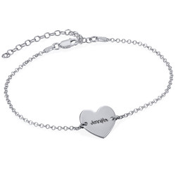 Heart Anklet in Silver product photo