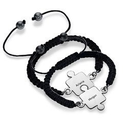 Best Friends Puzzle Bracelet in Silver product photo