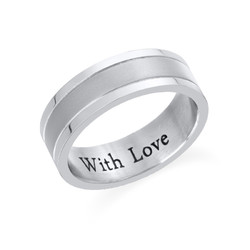 Engraved Stainless Steel Ring for Men product photo