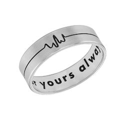 Heart Beat Couple's Rings - Man Ring product photo
