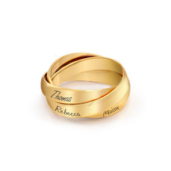 Charlize Russian Ring in Gold Plating product photo