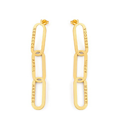 Aria Link Chain Earrings in Vermeil product photo