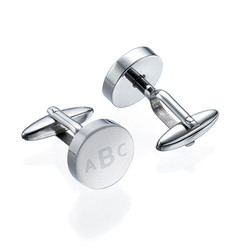 Personalised Round Letter Cufflinks product photo
