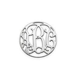 Floating Charm Plate - Monogram Silver Disc product photo