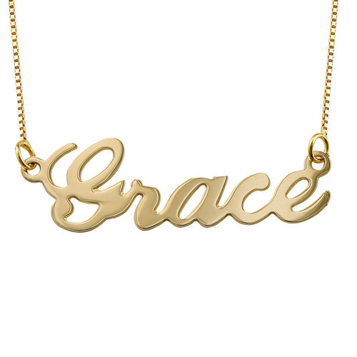 10ct Gold Classic Name Necklace