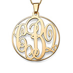 14K Yellow Gold Monogrammed Necklace