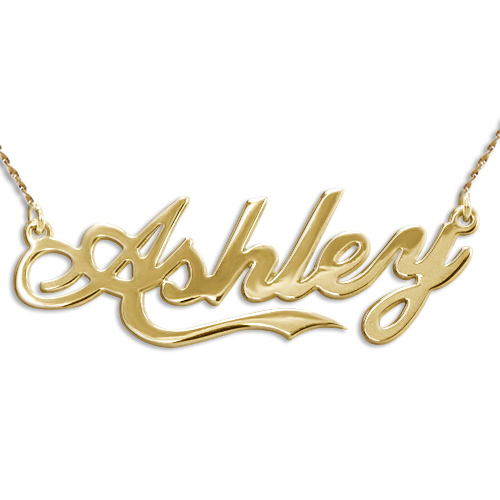 "14ct Gold ""Coca Cola"" Font Name Necklace"
