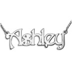 14ct White Gold Name Necklace