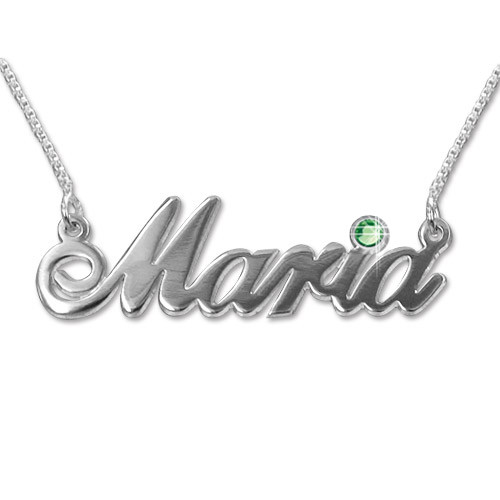 14k White Gold Swarovski Name Jewellery