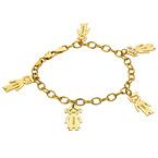 18ct Gold Plated Engraved Mum Bracelet