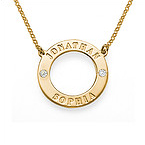 18ct Gold Plated Crystal Karma Necklace
