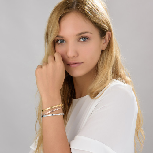 18ct Gold-Plated Engraved Bangle Bracelet - 2