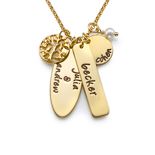 18ct Gold Plated Family Tree Jewellery