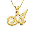 18ct Gold-Plated Initial Necklace