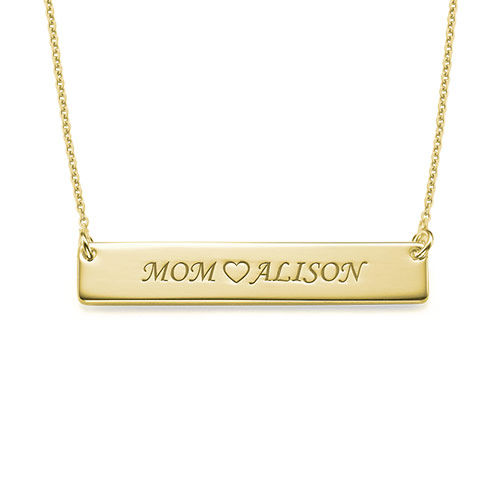 18ct Gold Plated Nameplate Necklace for mum - 1