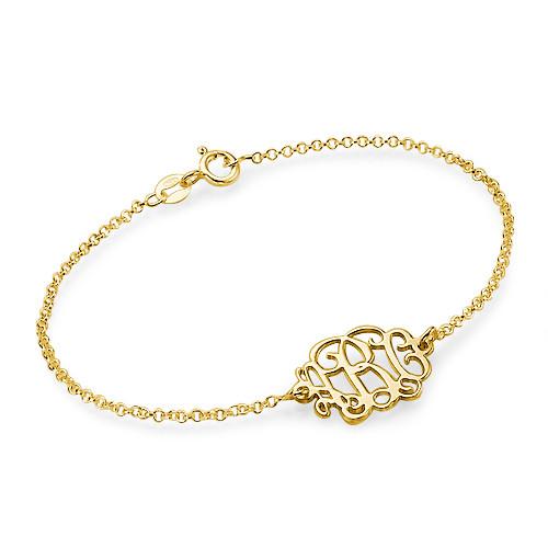 18ct Gold Plated Sterling Silver Monogram Bracelet / Anklet