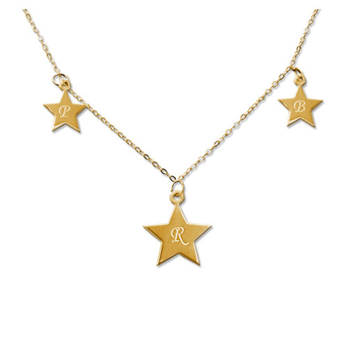 18ct Gold Plated Star Initial Pendant