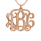 18ct Rose Gold Plated Silver Monogram Necklace