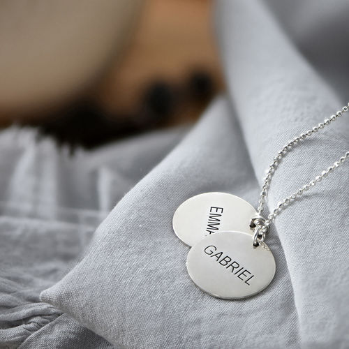 Mother's Jewellery - Personalised Disc Necklace - 2