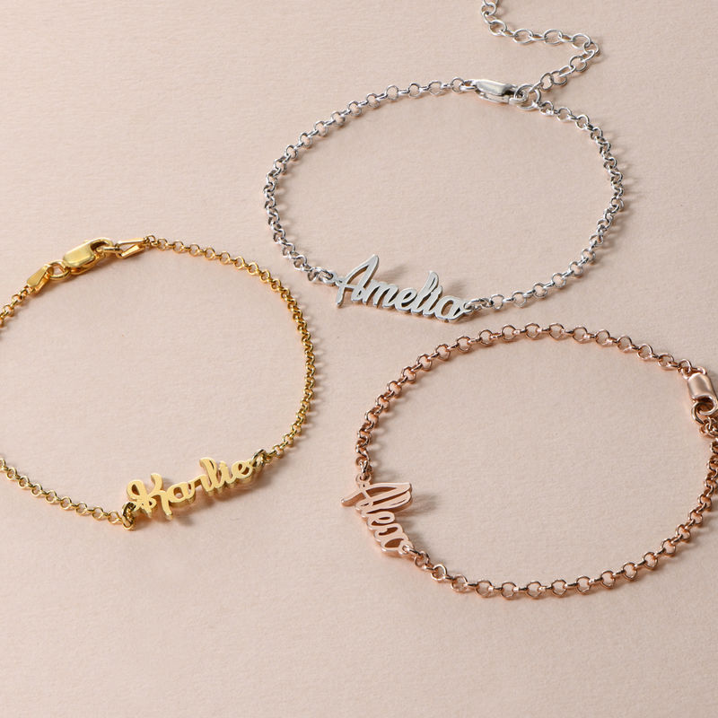 Ankle Bracelet with name in Gold Plating - 3